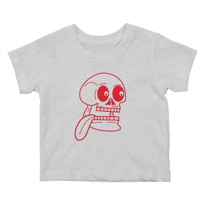 The Eager Skeleton Kids Baby T-Shirt by Lanky Lad Apparel