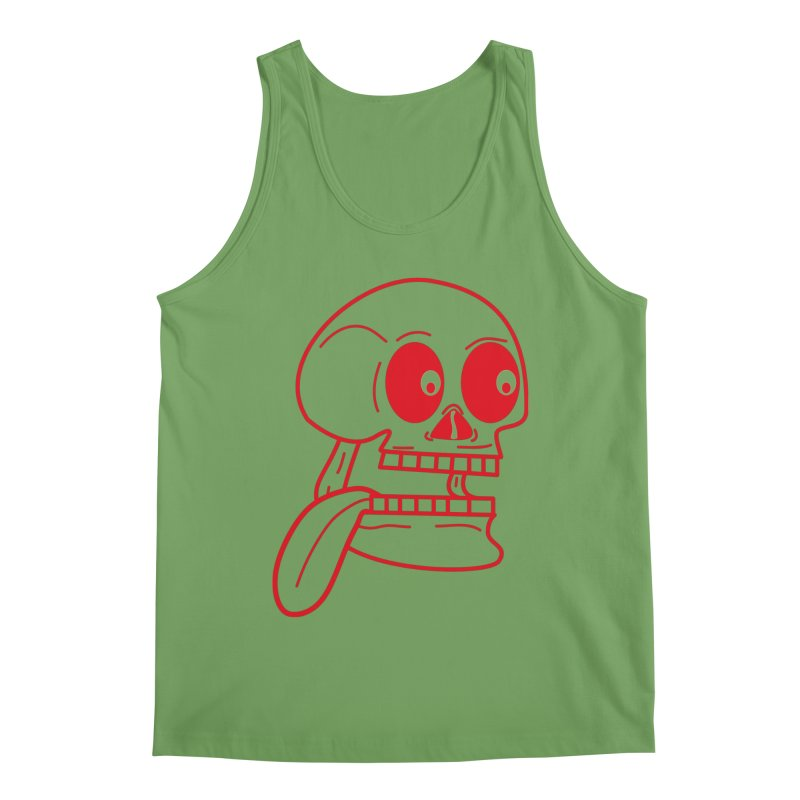 The Eager Skeleton Men's Tank by Lanky Lad Apparel