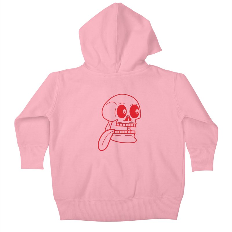 The Eager Skeleton Kids Baby Zip-Up Hoody by Lanky Lad Apparel