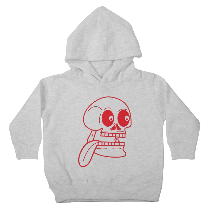 The Eager Skeleton Kids Toddler Pullover Hoody by Lanky Lad Apparel