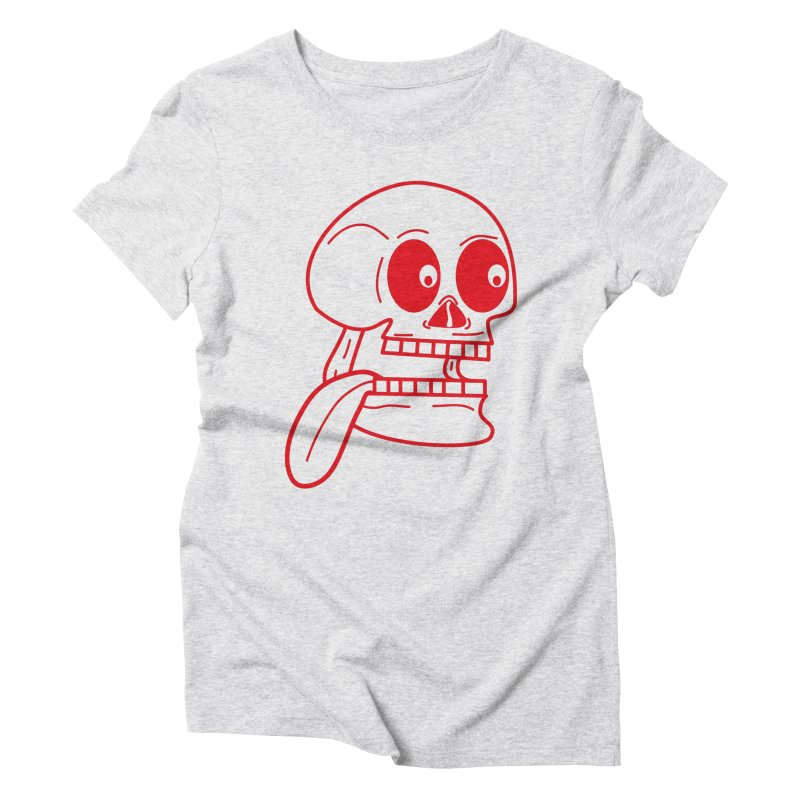 The Eager Skeleton Women's T-Shirt by Lanky Lad Apparel
