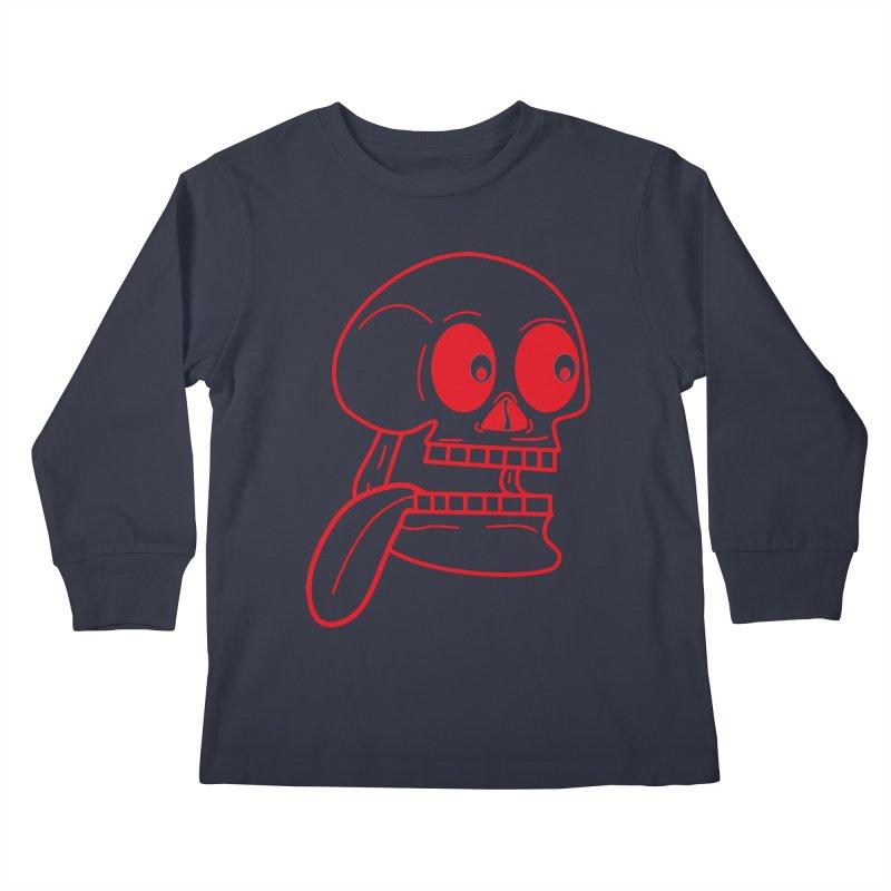 The Eager Skeleton Kids Longsleeve T-Shirt by Lanky Lad Apparel