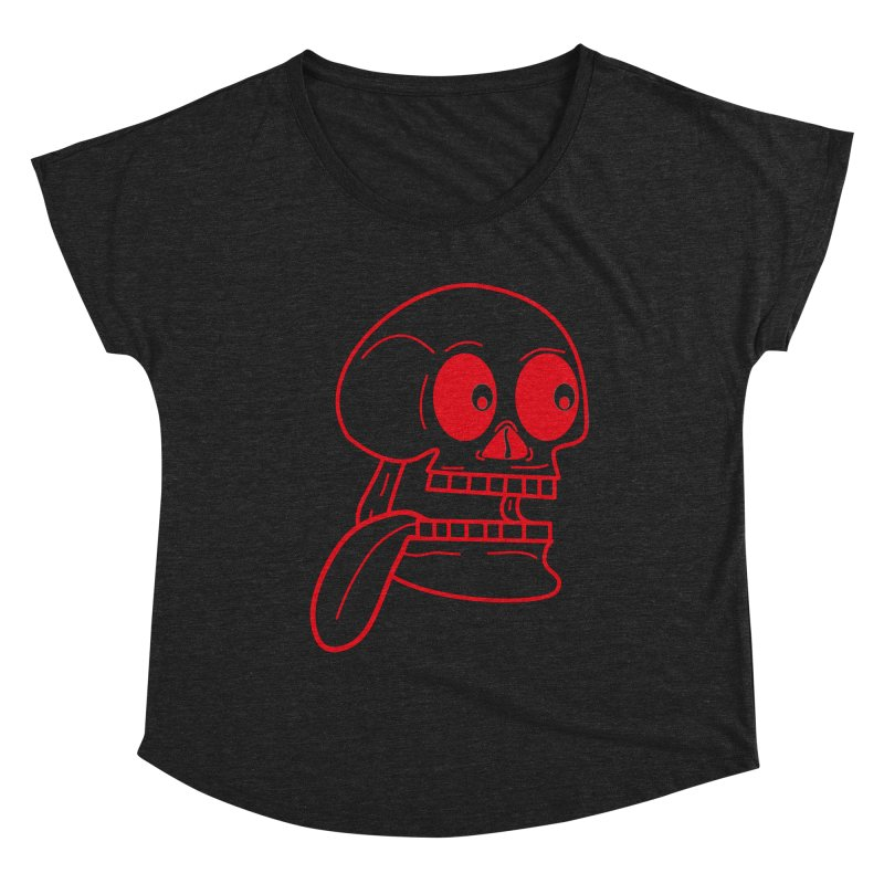 The Eager Skeleton Women's Scoop Neck by Lanky Lad Apparel