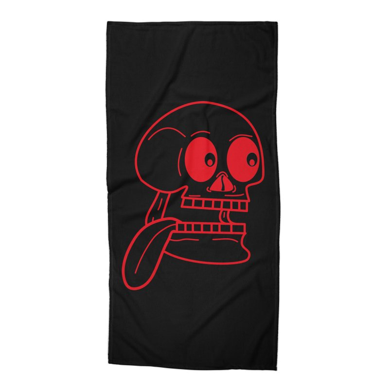 The Eager Skeleton Accessories Beach Towel by Lanky Lad Apparel