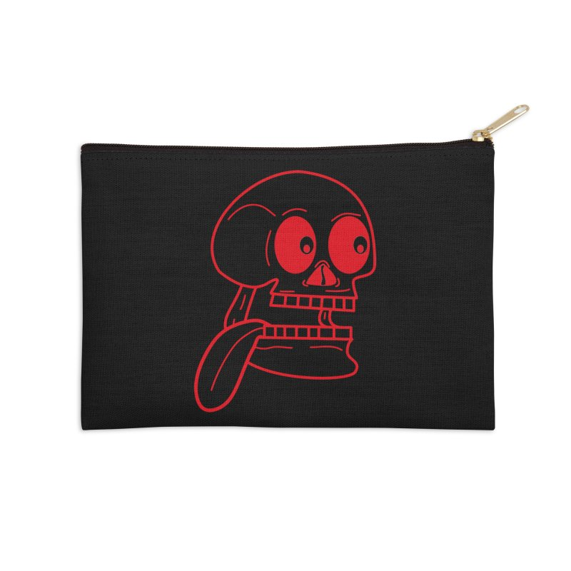 The Eager Skeleton Accessories Zip Pouch by Lanky Lad Apparel