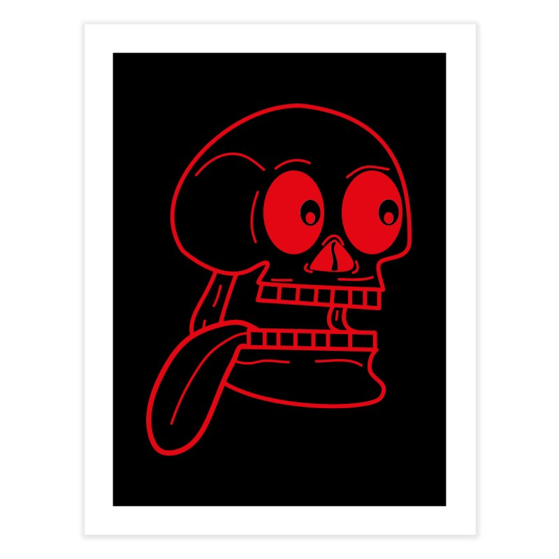 The Eager Skeleton Home Fine Art Print by Lanky Lad Apparel