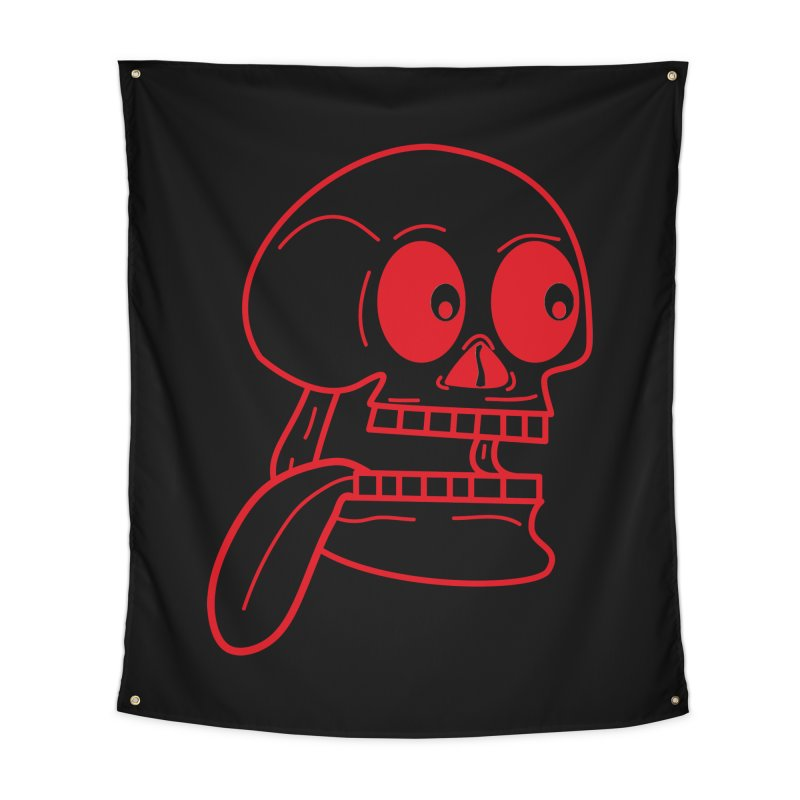 The Eager Skeleton Home Tapestry by Lanky Lad Apparel