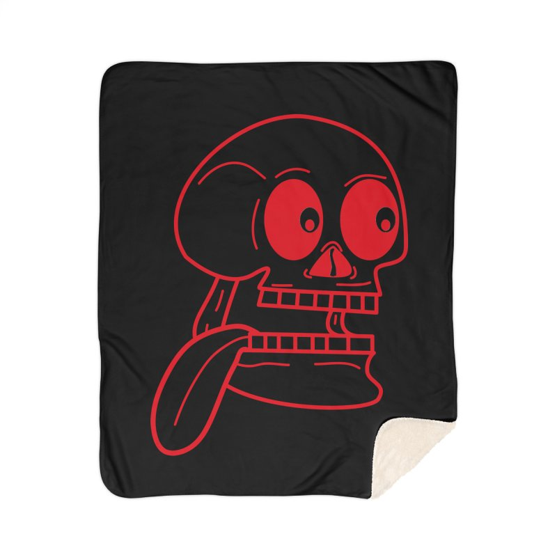The Eager Skeleton Home Blanket by Lanky Lad Apparel