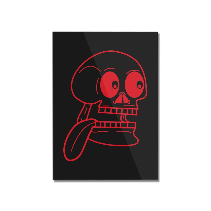 The Eager Skeleton Home Mounted Acrylic Print by Lanky Lad Apparel