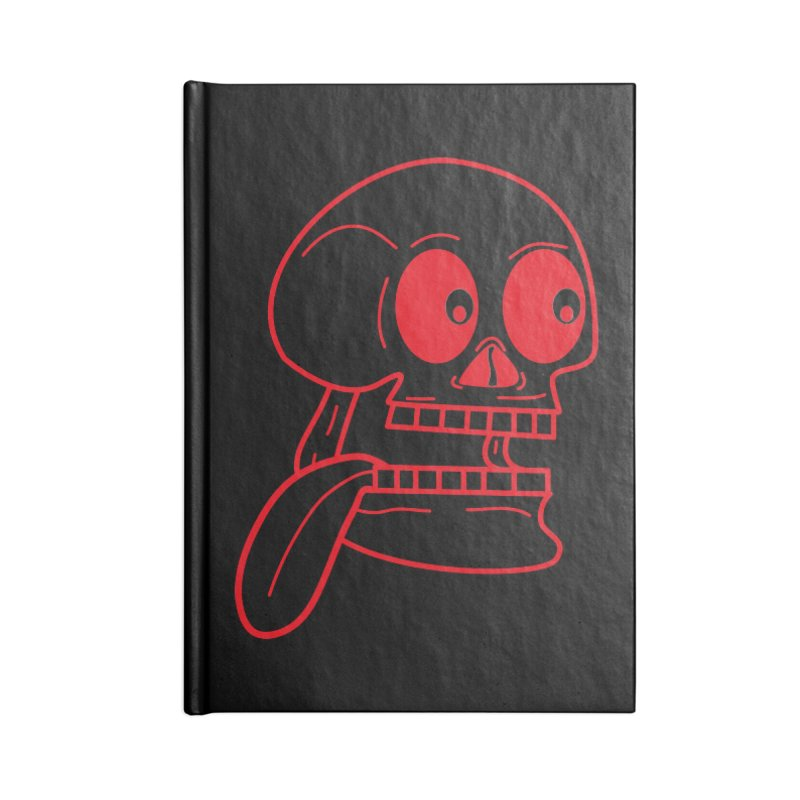 The Eager Skeleton Accessories Notebook by Lanky Lad Apparel