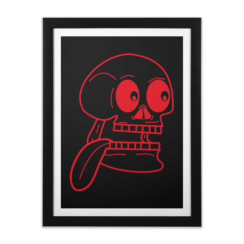 The Eager Skeleton Home Framed Fine Art Print by Lanky Lad Apparel