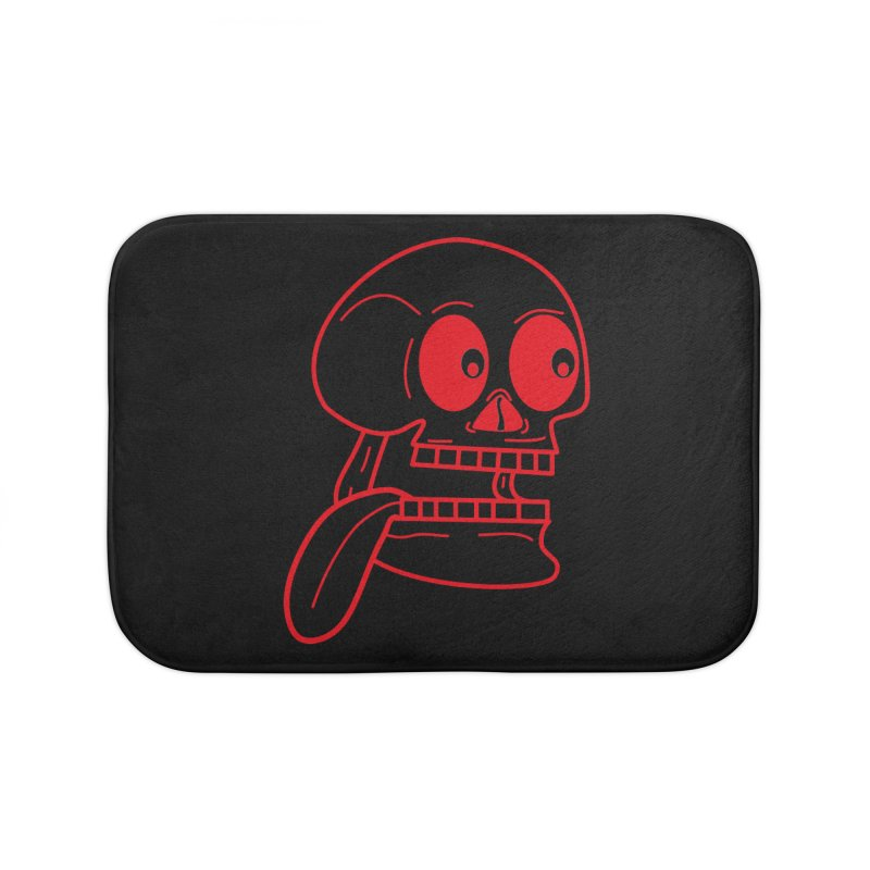 The Eager Skeleton Home Bath Mat by Lanky Lad Apparel