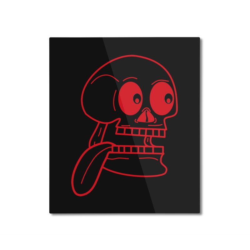 The Eager Skeleton Home Mounted Aluminum Print by Lanky Lad Apparel