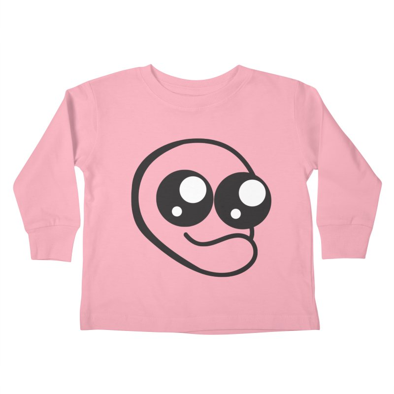 The Wide Eyed Lad Kids Toddler Longsleeve T-Shirt by Lanky Lad Apparel