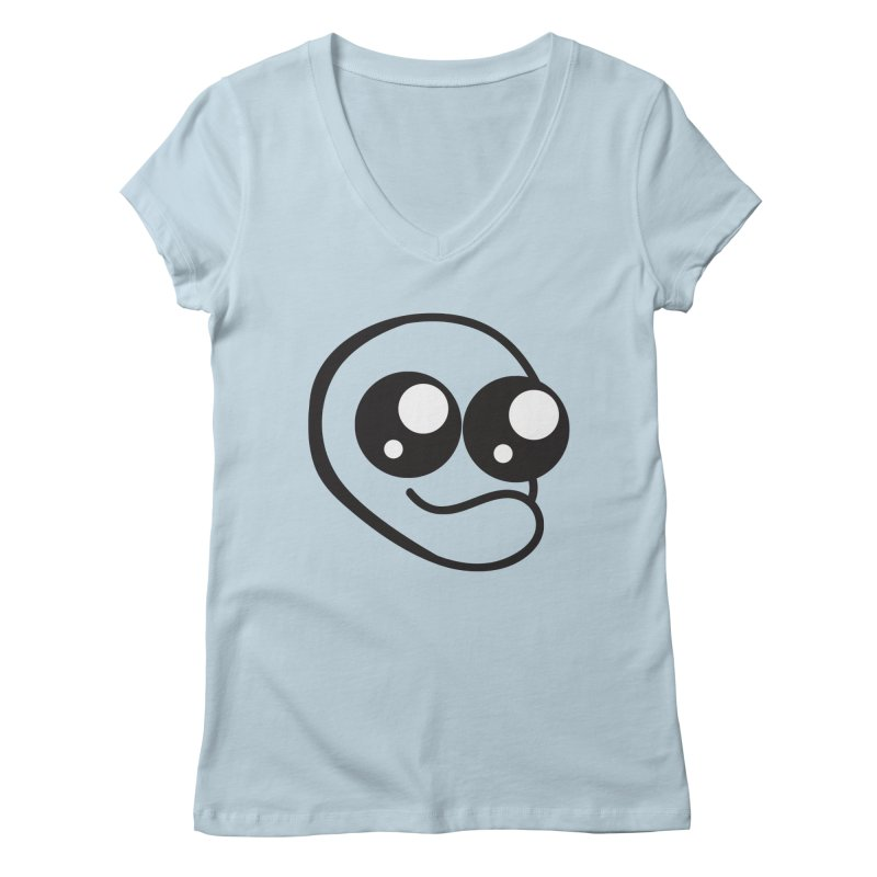 The Wide Eyed Lad Women's V-Neck by Lanky Lad Apparel
