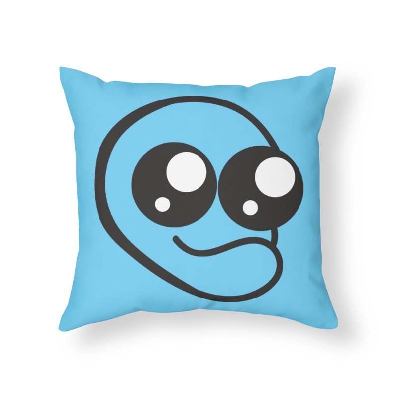 The Wide Eyed Lad Home Throw Pillow by Lanky Lad Apparel