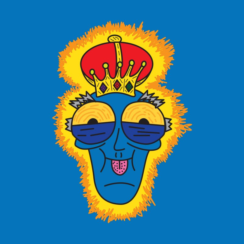 The Happy Blue King Home Mounted Aluminum Print by Lanky Lad Apparel
