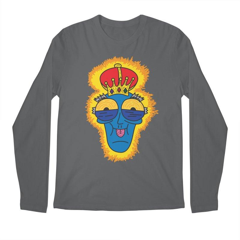 The Happy Blue King Men's Longsleeve T-Shirt by Lanky Lad Apparel