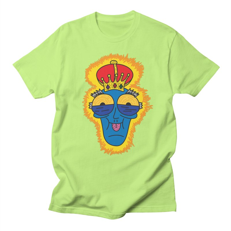 The Happy Blue King Men's T-Shirt by Lanky Lad Apparel