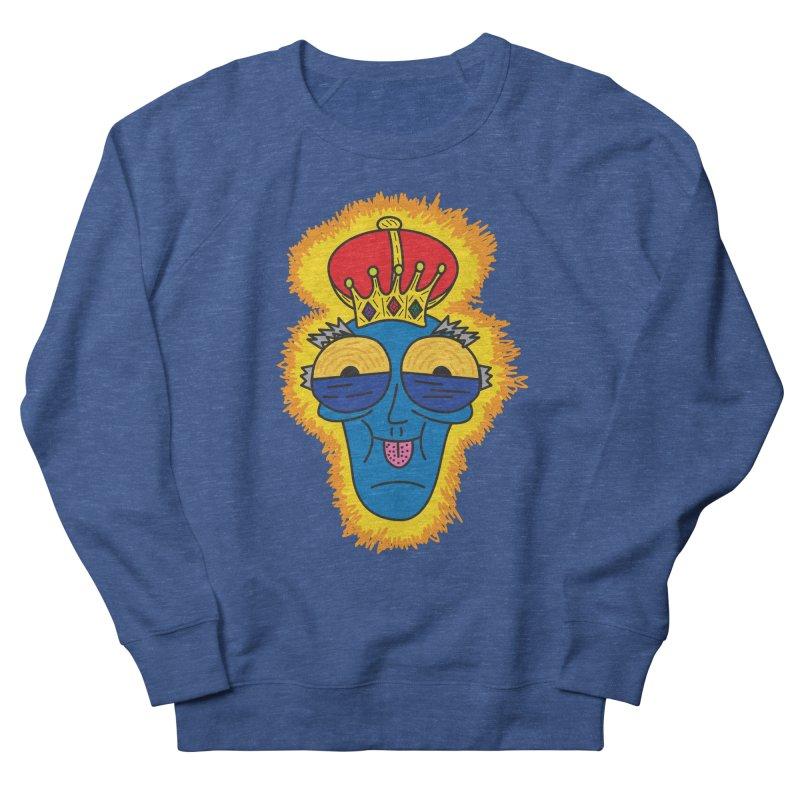 The Happy Blue King Men's Sweatshirt by Lanky Lad Apparel