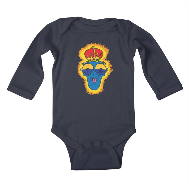 The Happy Blue King Kids Baby Longsleeve Bodysuit by Lanky Lad Apparel