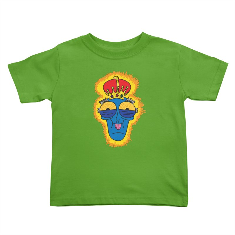 The Happy Blue King Kids Toddler T-Shirt by Lanky Lad Apparel