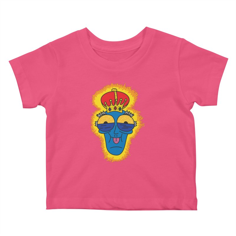 The Happy Blue King Kids Baby T-Shirt by Lanky Lad Apparel