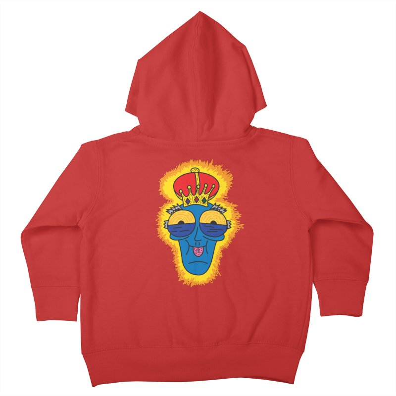 The Happy Blue King Kids Toddler Zip-Up Hoody by Lanky Lad Apparel