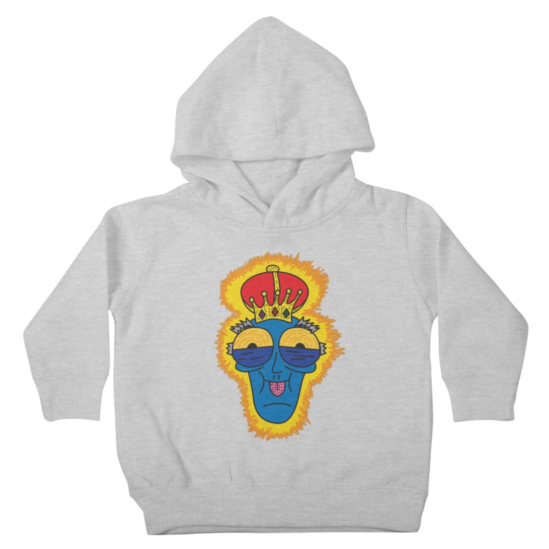 The Happy Blue King Kids Toddler Pullover Hoody by Lanky Lad Apparel