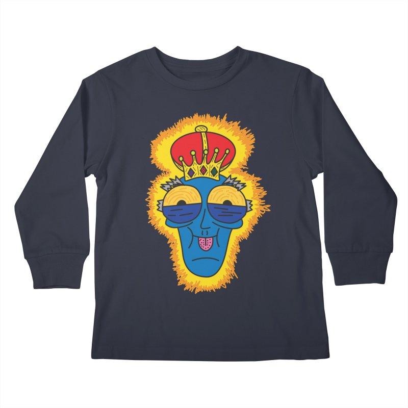 The Happy Blue King Kids Longsleeve T-Shirt by Lanky Lad Apparel
