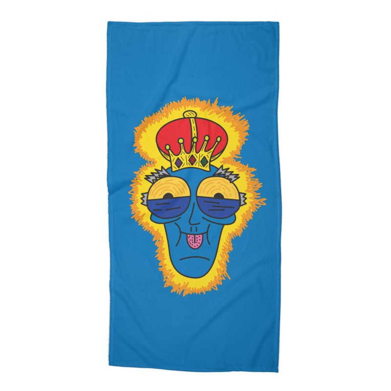 The Happy Blue King Accessories Beach Towel by Lanky Lad Apparel