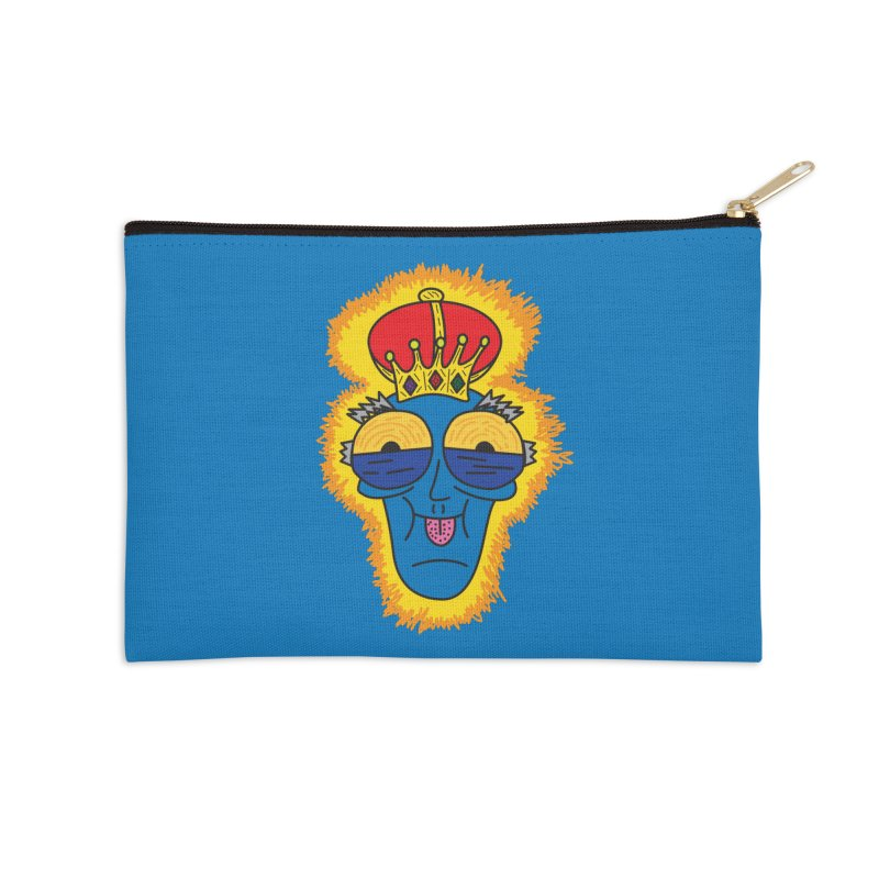 The Happy Blue King Accessories Zip Pouch by Lanky Lad Apparel