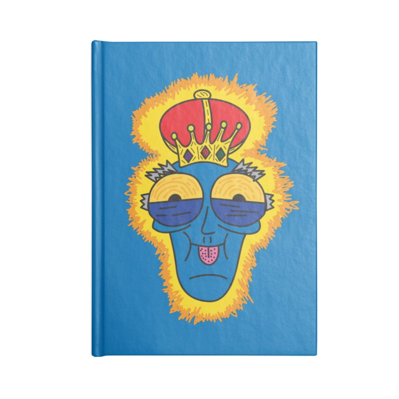 The Happy Blue King Accessories Notebook by Lanky Lad Apparel