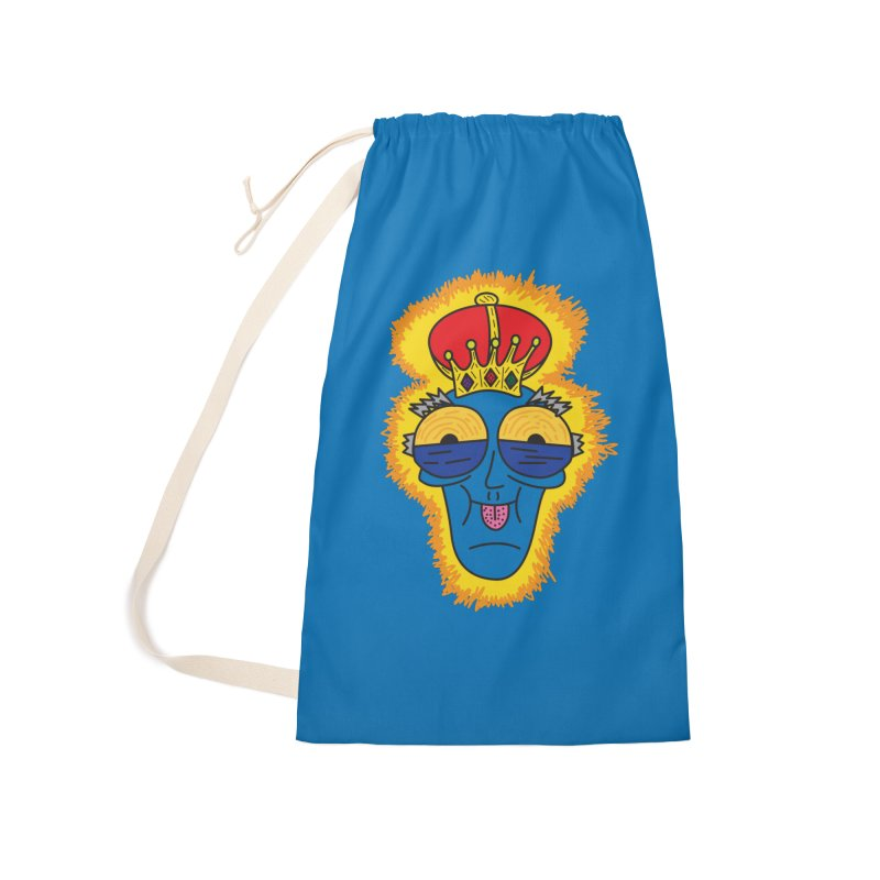 The Happy Blue King Accessories Bag by Lanky Lad Apparel