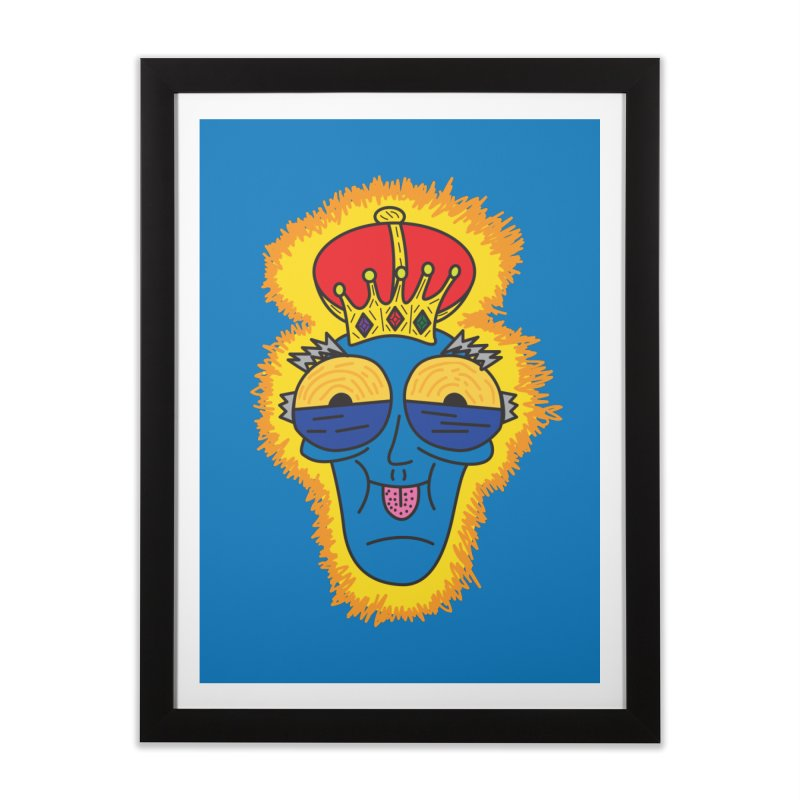 The Happy Blue King Home Framed Fine Art Print by Lanky Lad Apparel