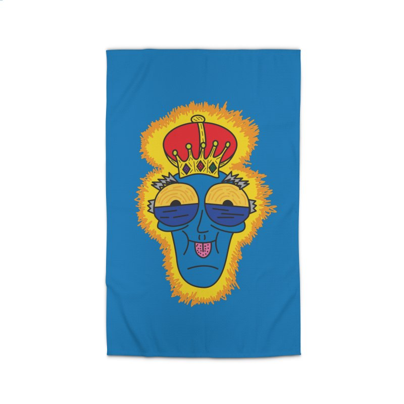 The Happy Blue King Home Rug by Lanky Lad Apparel