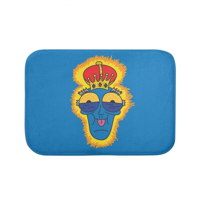 The Happy Blue King Home Bath Mat by Lanky Lad Apparel
