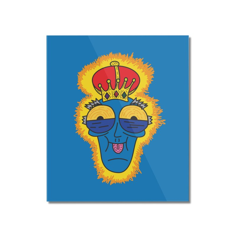 The Happy Blue King Home Mounted Acrylic Print by Lanky Lad Apparel