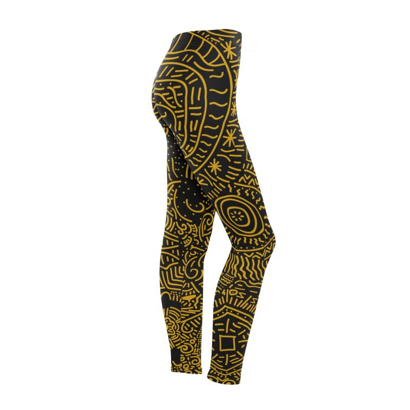 Tribal Doodle Women's Bottoms by Lanky Lad Apparel