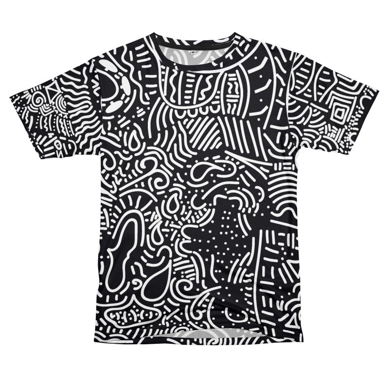 Tribal Doodle Men's Cut & Sew by Lanky Lad Apparel
