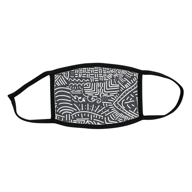 Tribal Doodle Accessories Face Mask by Lanky Lad Apparel
