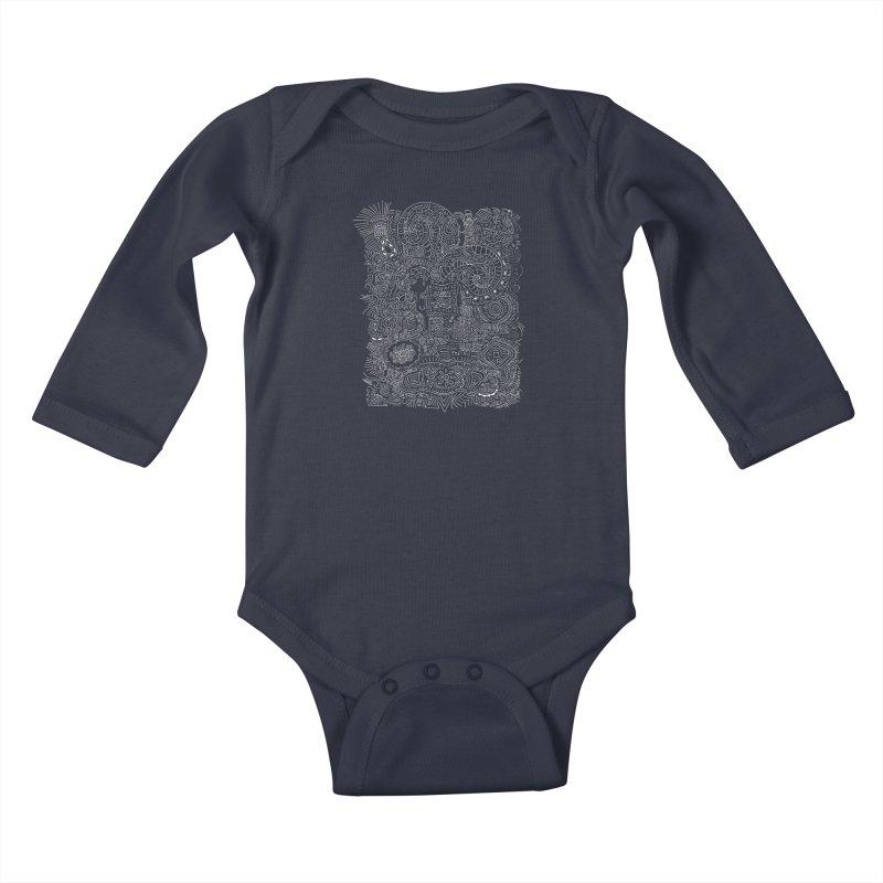 Tribal Doodle Kids Baby Longsleeve Bodysuit by Lanky Lad Apparel