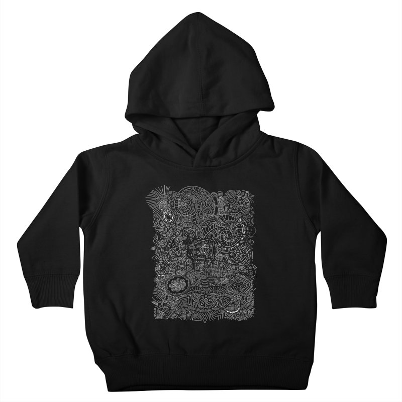 Tribal Doodle Kids Toddler Pullover Hoody by Lanky Lad Apparel