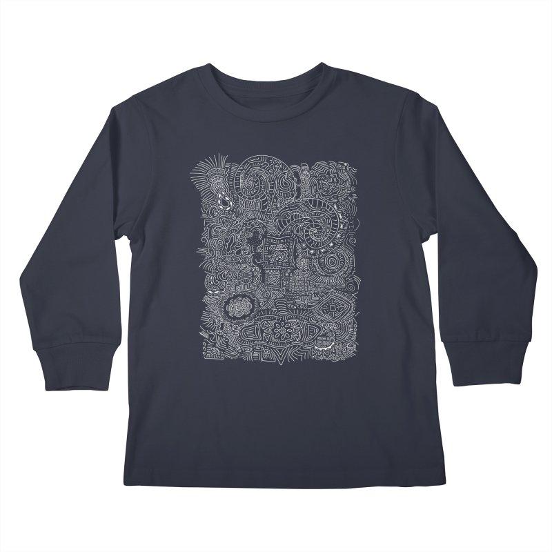 Tribal Doodle Kids Longsleeve T-Shirt by Lanky Lad Apparel