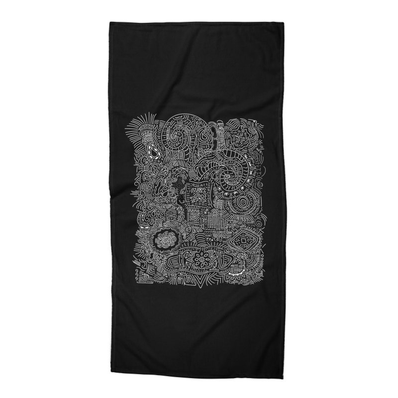 Tribal Doodle Accessories Beach Towel by Lanky Lad Apparel