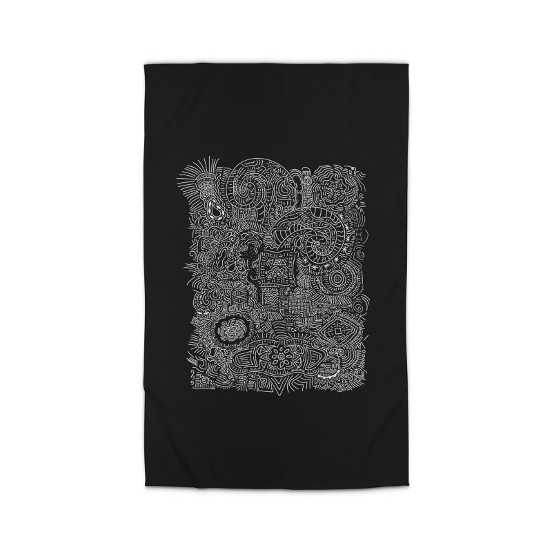 Tribal Doodle Home Rug by Lanky Lad Apparel