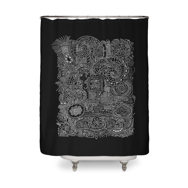 Tribal Doodle Home Shower Curtain by Lanky Lad Apparel