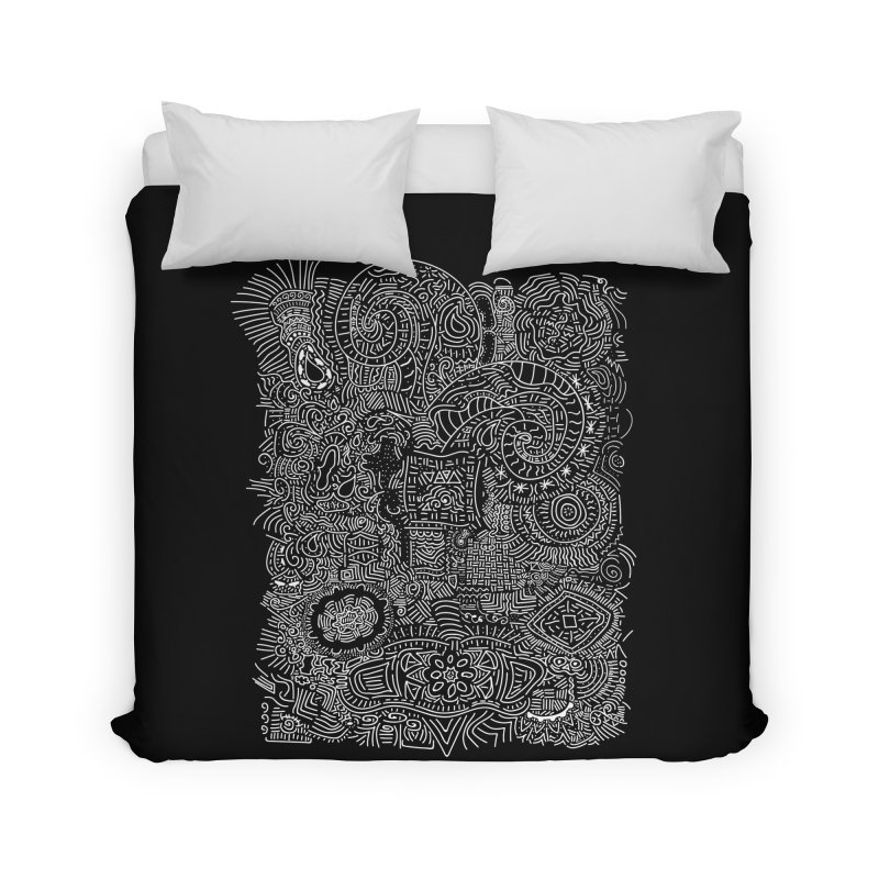 Tribal Doodle Home Duvet by Lanky Lad Apparel