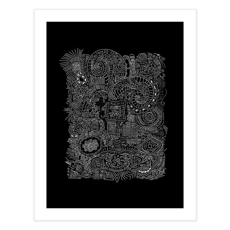 Tribal Doodle Home Fine Art Print by Lanky Lad Apparel