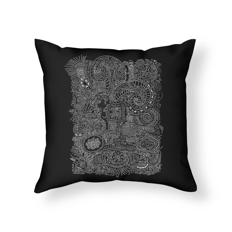 Tribal Doodle Home Throw Pillow by Lanky Lad Apparel